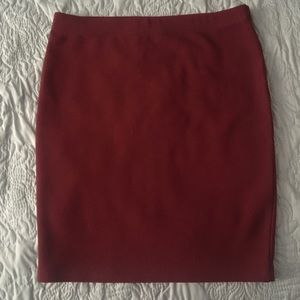 Red body-con skirt